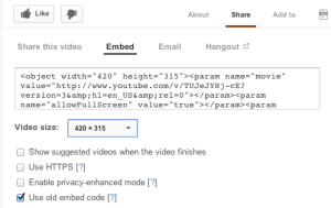 YouTube Embed Video